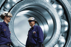 Engineers and ball-bearing industrial Royalty Free Stock Photography