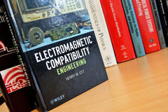 Physics books for engineers. Different physics books for study and research Stock Photography