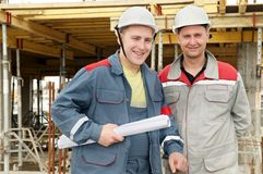 Engineers builders at construction Stock Photography