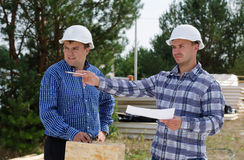 Engineers on a building site Royalty Free Stock Photo