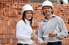Engineers at a construction site Stock Photography