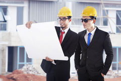 Engineers at construction site Stock Image