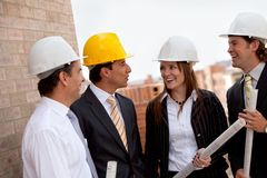Engineers at a construction site Stock Photos