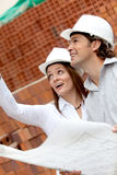 Engineers at a construction site Stock Images