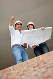 Engineers at a construction site Royalty Free Stock Photo