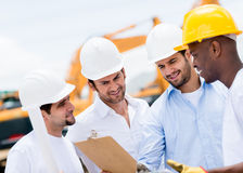 Engineers at a construction site Royalty Free Stock Photography