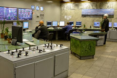 Engineers in the control room Royalty Free Stock Photo