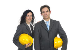 Engineers couple Royalty Free Stock Photo