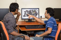 Engineers designing on computer Royalty Free Stock Photo