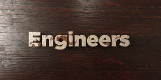 Engineers - grungy wooden headline on Maple  - 3D rendered royalty free stock image Stock Photography