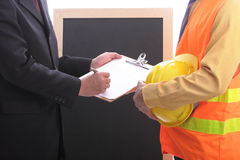 Engineers meeting for discussion and presentation concept Stock Images