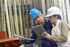 Engineers in metallurgic industry working Royalty Free Stock Photo