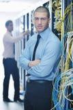 It engineers in network server room Stock Image