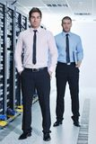 It engineers in network server room Stock Image