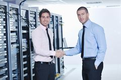 It engineers in network server room Royalty Free Stock Images