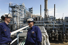 Engineers and oil industry stock photos