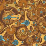 Engineers sketch seamless pattern color Stock Images
