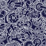 Engineers sketch seamless pattern Stock Images
