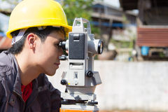 Engineers survey. Line columns for the construction of buildings stock image