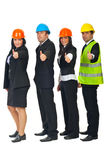 Engineers team giving thumbs Royalty Free Stock Photography