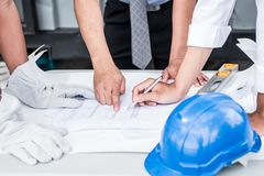 Engineers and teamwork Royalty Free Stock Photos