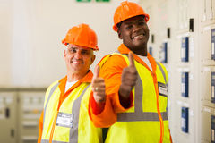Engineers thumbs up Stock Photos