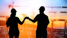 Engineers Trust in team giving fist bump Stock Photography
