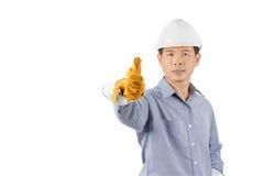 Engineers wearing white helmets Stock Photos