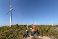 Engineers of Wind Turbine Royalty Free Stock Photo