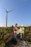Engineers of Wind Turbine Stock Photography