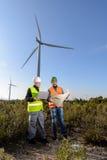 Engineers of Wind Turbine Stock Photos