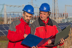 Engineers at Work Royalty Free Stock Photos
