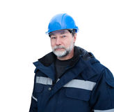 Engineer helmet blue Royalty Free Stock Image