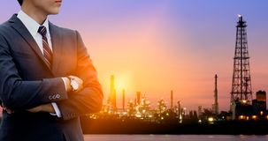 Engineers. Work for oil refineries Stock Photos