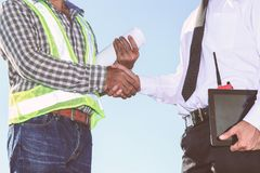Engineers. Are working at building sites Stock Image