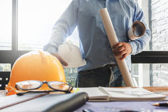 Engineers working in the office Stock Images