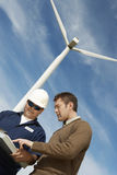 Engineers Working At Wind Farm Royalty Free Stock Photography