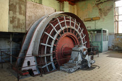 Engineroom of coalmine Waterschei Royalty Free Stock Images