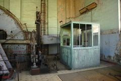 Engineroom of coalmine Waterschei Royalty Free Stock Photos