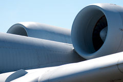 Engines of a A10 warthog combat aircraft Royalty Free Stock Photography