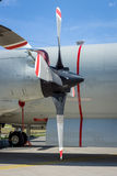 Engines Allison T56-A-14 of the turboprop anti-submarine and maritime surveillance aircraft Lockheed P-3C Orion. Royalty Free Stock Image