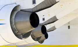 Engines  Antonov An-225. Engines of the  Antonov An-225 Royalty Free Stock Photography