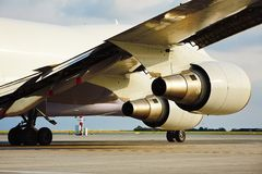 Engines of the cargo airplane Royalty Free Stock Photo