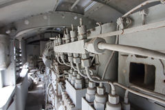Engines diesel in locomotive Stock Photography
