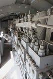Engines diesel in locomotive in vertical Stock Photo