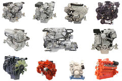 Engines. The image of an engines under the white background royalty free stock photo