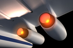 The engines of jet aircraft. Stock Photography