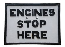 Engines stop here Royalty Free Stock Image