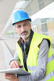 Enginner with security helmet Royalty Free Stock Image