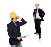 Enginner und Geschäfts-Fremdfirma lizenzfreies stockfoto
